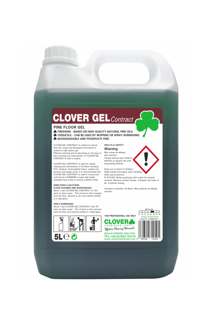Clover pine contract gel