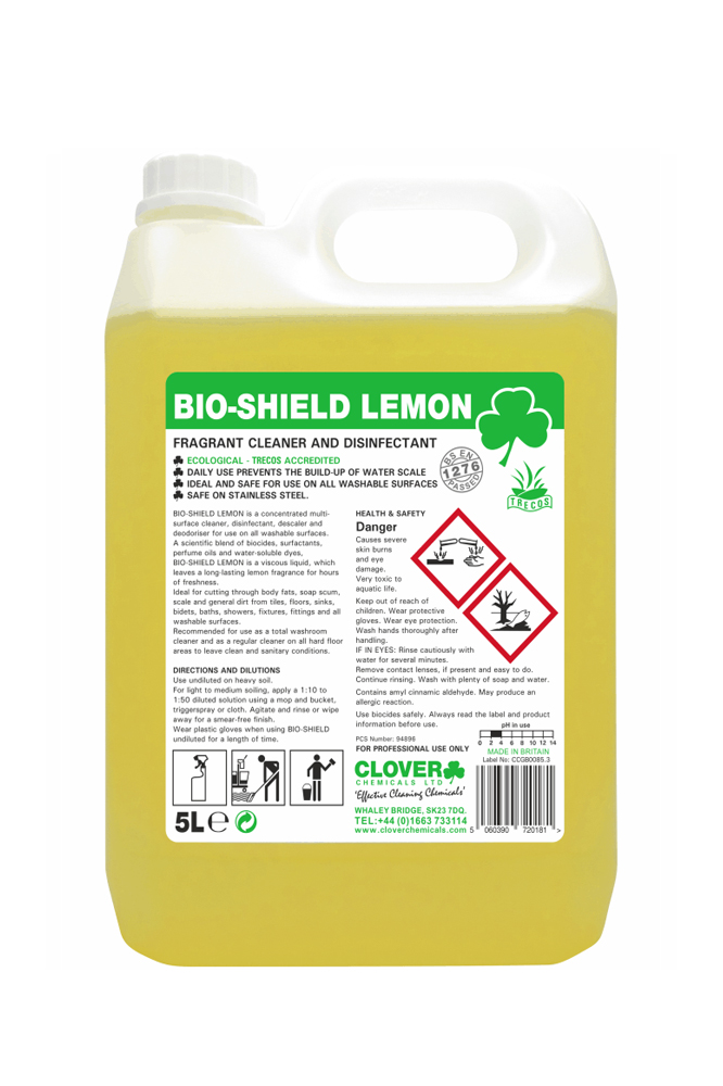 clover bio shield lemon 5l